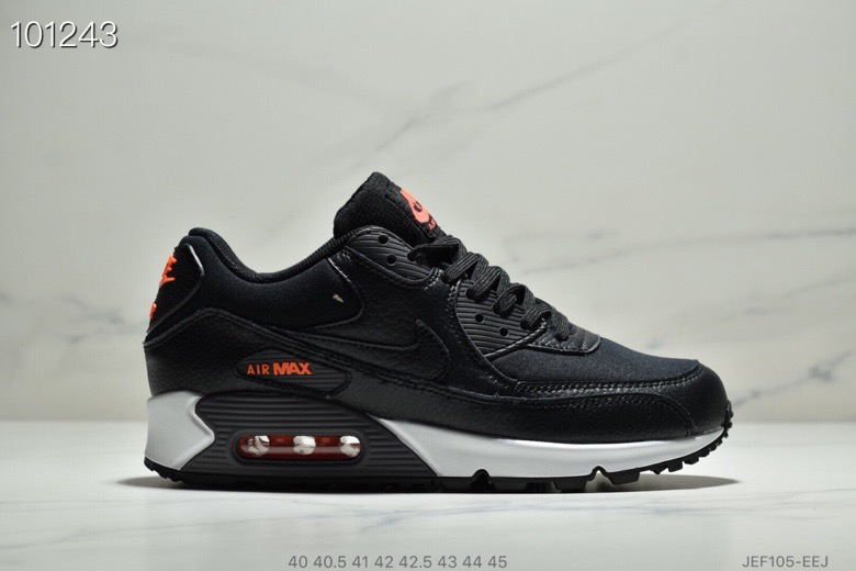 Nike Air Max 90 Black-Habanero Red-Black CD1526-001 - www.wholesaleflyknit.com
