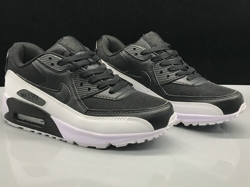 Wholesale Nike Air Max 90 Classic Black Grey White On www.wholesaleoffwhite.com