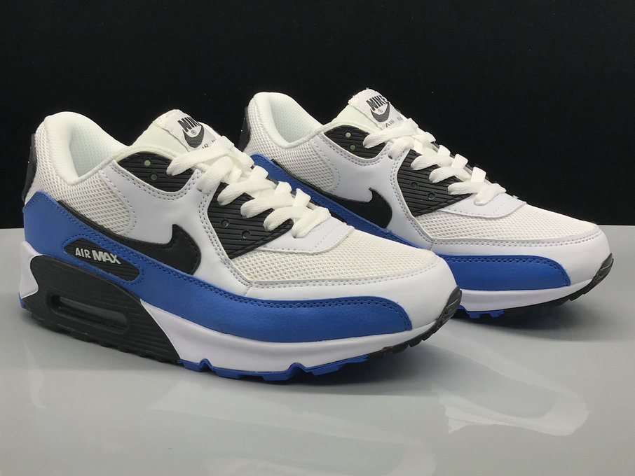 Wholesale Nike Air Max 90 Classic Blue White Black On www.wholesaleoffwhite.com