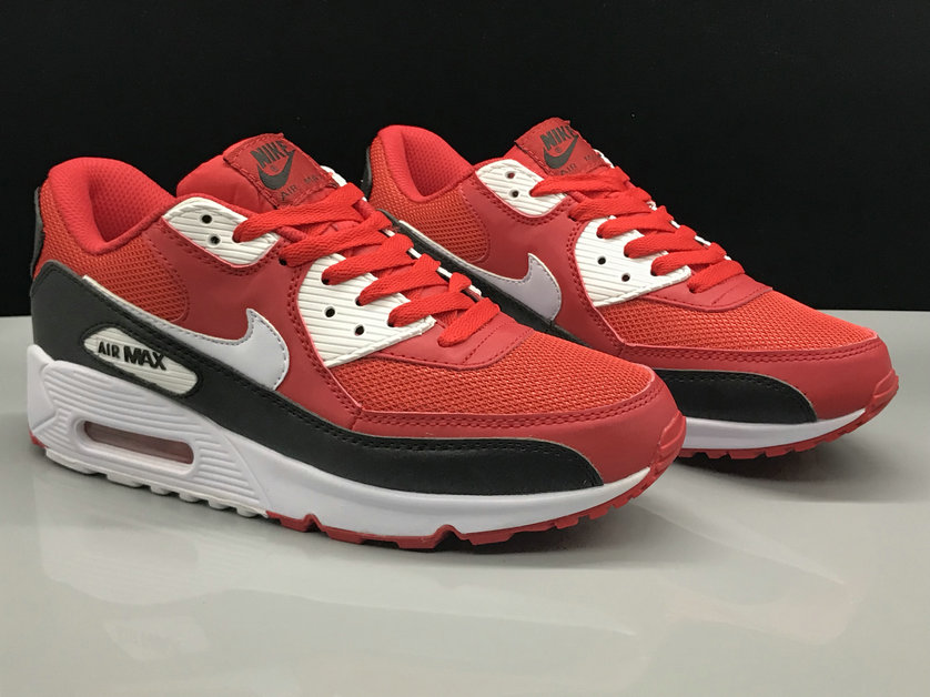 Wholesale Nike Air Max 90 Classic Fire Red Black White On www.wholesaleoffwhite.com