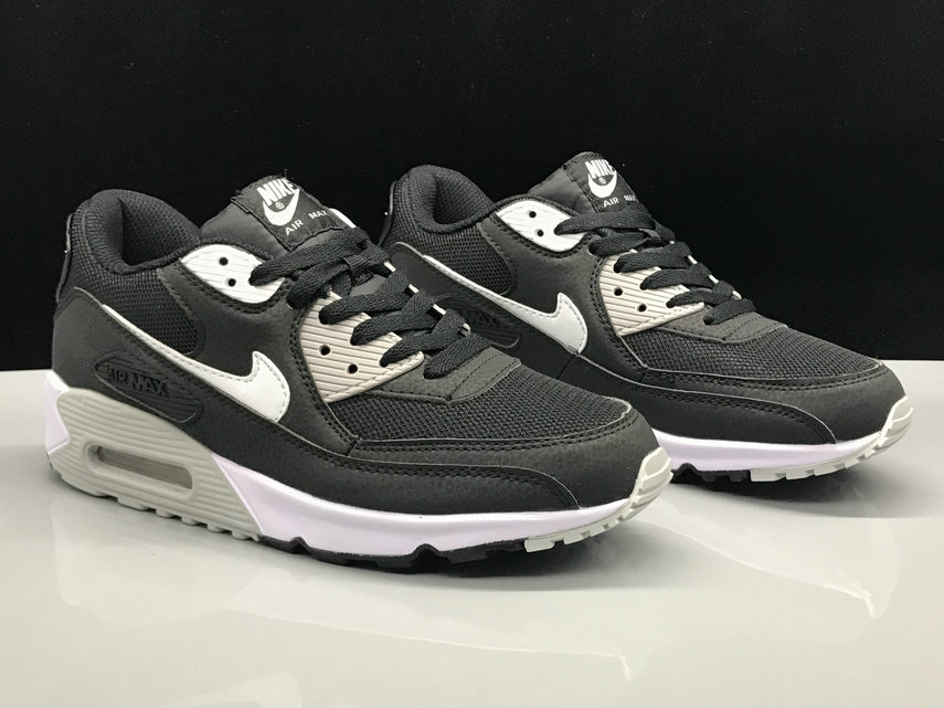 Wholesale Nike Air Max 90 Classic White Black Grey On www.wholesaleoffwhite.com