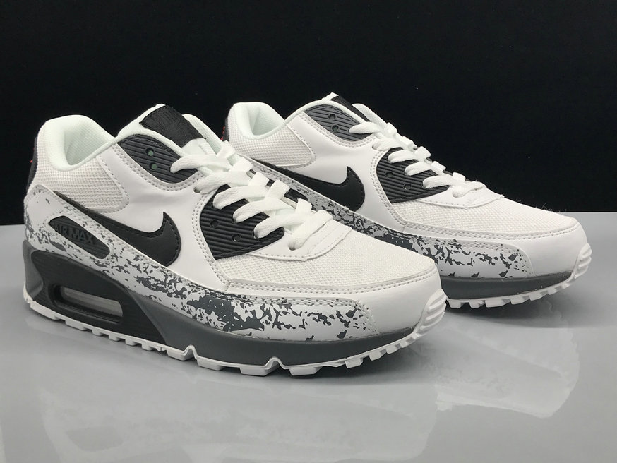 Wholesale Nike Air Max 90 Classic White Grey Black On www.wholesaleoffwhite.com