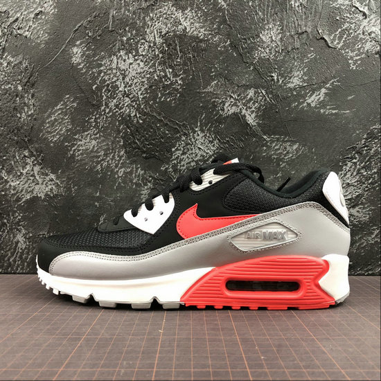 half off 2b607 2a196 Wholesale Nike Air Max 90 Essential AJ1285-012 Wolf Grey Bright Crimson  Black Gris Loup