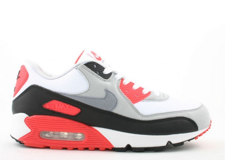 Cheap Wholesale Nike Air Max 90 Infrared 2008 Release 333806-101 White Cement Grey-Infrared-Black - www.wholesaleflyknit.com