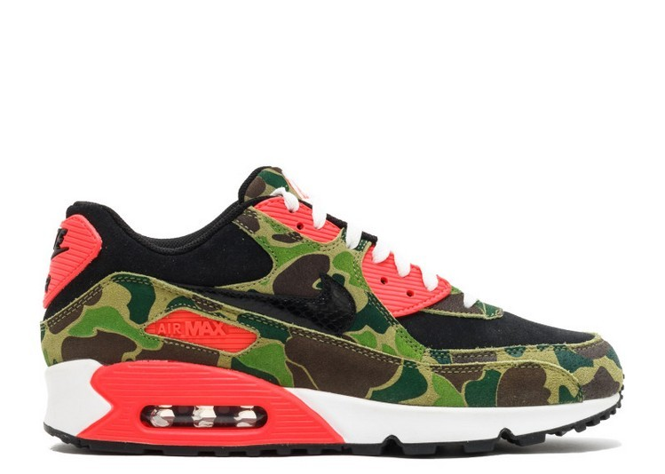 Cheap Wholesale Nike Air Max 90 Premium Atmos Duck Camo 333888-025 Black Black-Chlorophyll-Infrared - www.wholesaleflyknit.com