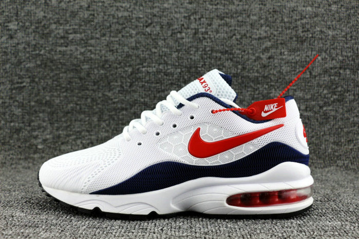 Wholesale Nike Air Max 93 OG Red White Navy Blue On www.wholesaleoffwhite.com