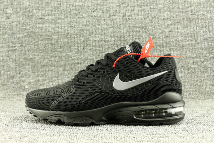 Wholesale Nike Air Max 93 OG Triple Black On www.wholesaleoffwhite.com