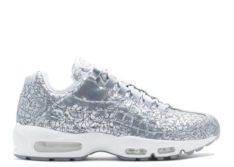 Cheap Wholesale Nike Air Max 95 Anniversary Qs 818721-001 Pure Platinum White-Metallic Silver - www.wholesaleflyknit.com