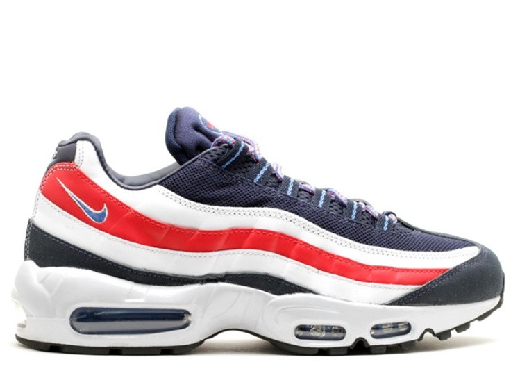 Cheap Wholesale Nike Air Max 95 City Qs London 667637-400 Midnight Navy Distance Blue-White-Challenge Red - www.wholesaleflyknit.com