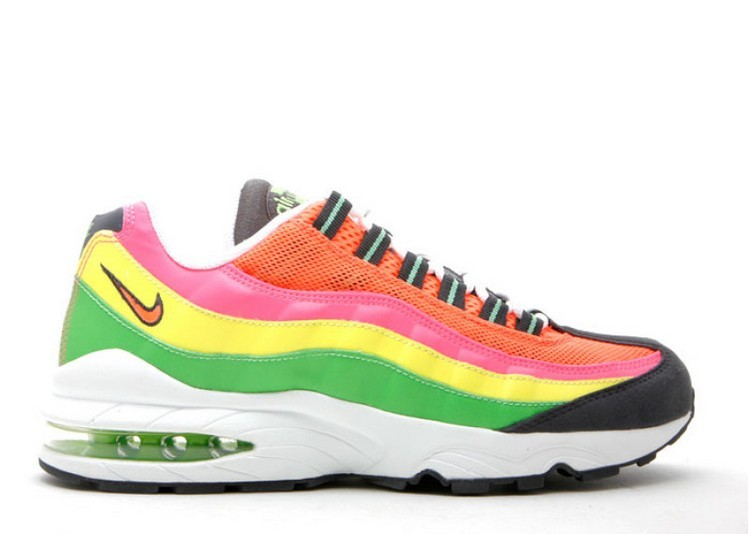 Cheap Wholesale Nike Air Max 95 Gs 307565-082 Anthracite Tart Radiant Green Voltage Yellow - www.wholesaleflyknit.com