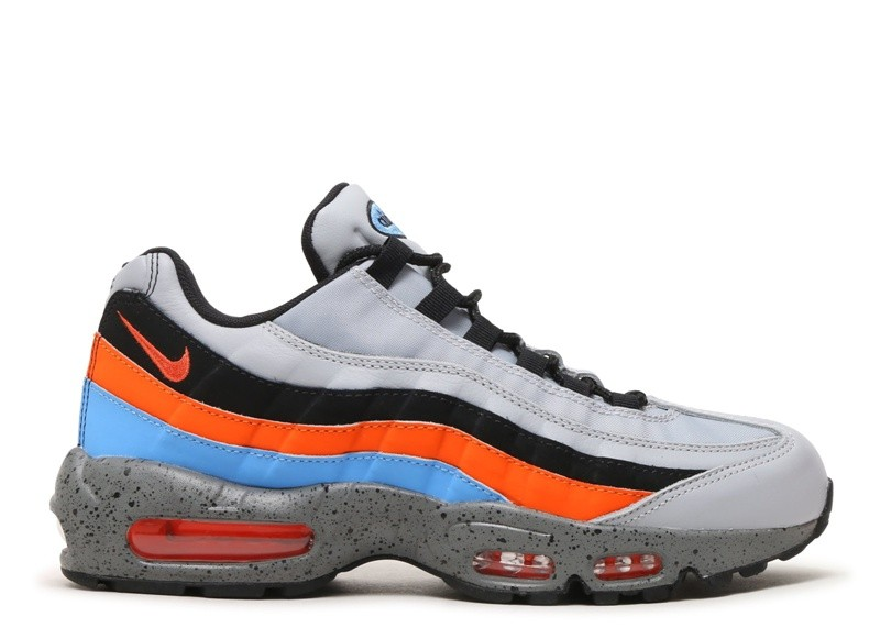 Cheap Wholesale Nike Air Max 95 Premium 538416-015 Wolf Grey Safety Orange University Blue - www.wholesaleflyknit.com