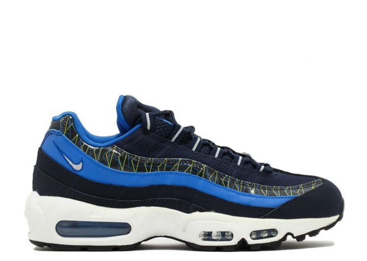 Cheap Wholesale Nike Air Max 95 Premium 538416-443 Dark Obsidian Hyper Cobalt-Flash Lime-Metallic Silver - www.wholesaleflyknit.com