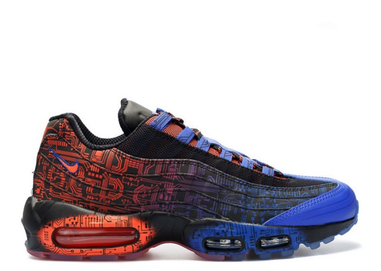 Cheap Wholesale Nike Air Max 95 Premium Db Doernbecher 839165-064 Black Blue Pattern Red - www.wholesaleflyknit.com