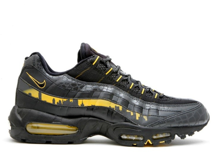 Cheap Wholesale Nike Air Max 95 Premium Nyc Blackout New York City Pack 330795-001 Black Black-Varsity Maize - www.wholesaleflyknit.com