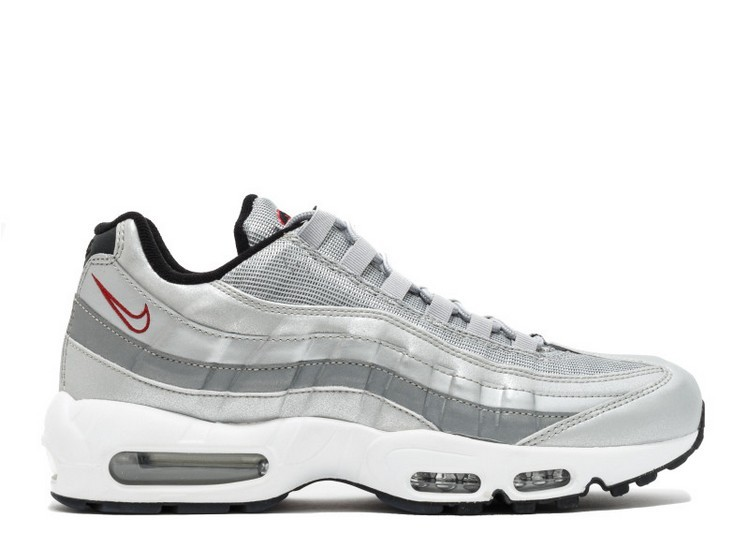 Cheap Wholesale Nike Air Max 95 Premium Qs Silver Bullet 918359-001 Metallic Silver Varsity Red-White-Black - www.wholesaleflyknit.com
