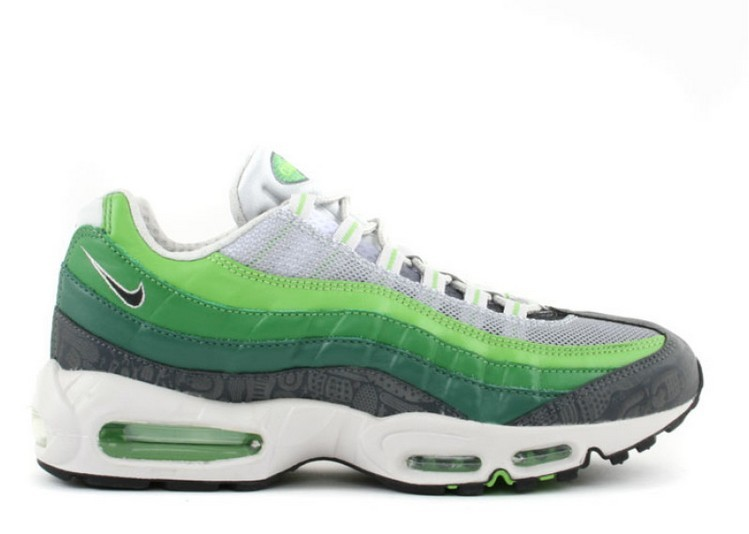 Cheap Wholesale Nike Air Max 95 Premium Rejuvenation 313516-301 Green Bean Anthracite-Grass - www.wholesaleflyknit.com