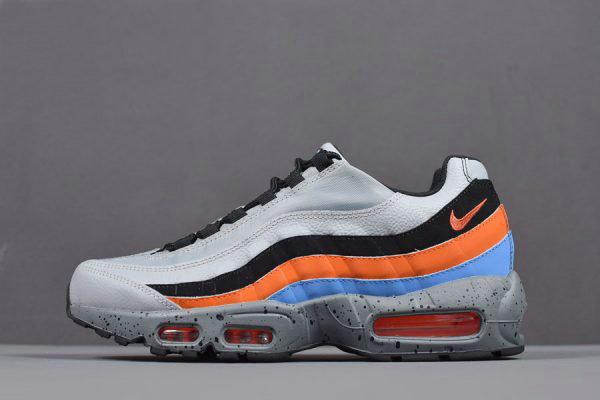 Cheap Wholesale Nike Air Max 95 Premium Wolf Grey Safety Orange Mens Size 538416-015 - www.wholesaleflyknit.com