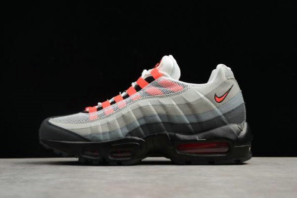 Cheap Wholesale Nike Air Max 95 White Solar Red-Neutral Grey Mens Running Shoes 609048-106 - www.wholesaleflyknit.com
