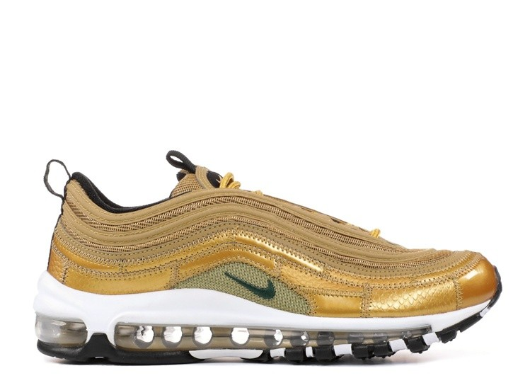 Cheap Wholesale Nike Air Max 97 Cr7 Golden Patchwork Cristiano Ronaldo Aq0655-700 Metallic Gold Green-Varsity Red-Black - www.wholesaleflyknit.com
