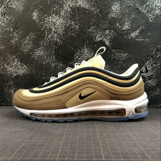 Wholesale Nike Air Max 97 Mens Womens 921826-201 Brown Black-White Brun Noir Blanc-www.wholesaleflyknit.com