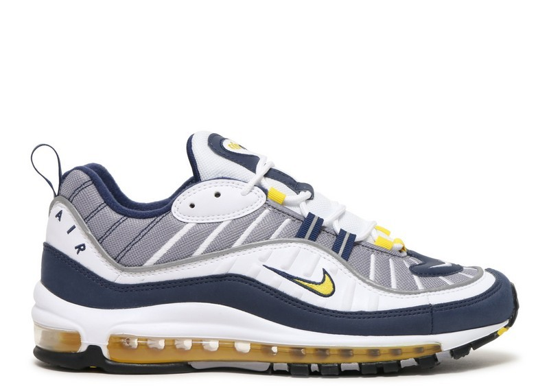 Cheap Wholesale Nike Air Max 98 640744-105 White Tour Yellow Midnight Navy Cement Grey - www.wholesaleflyknit.com