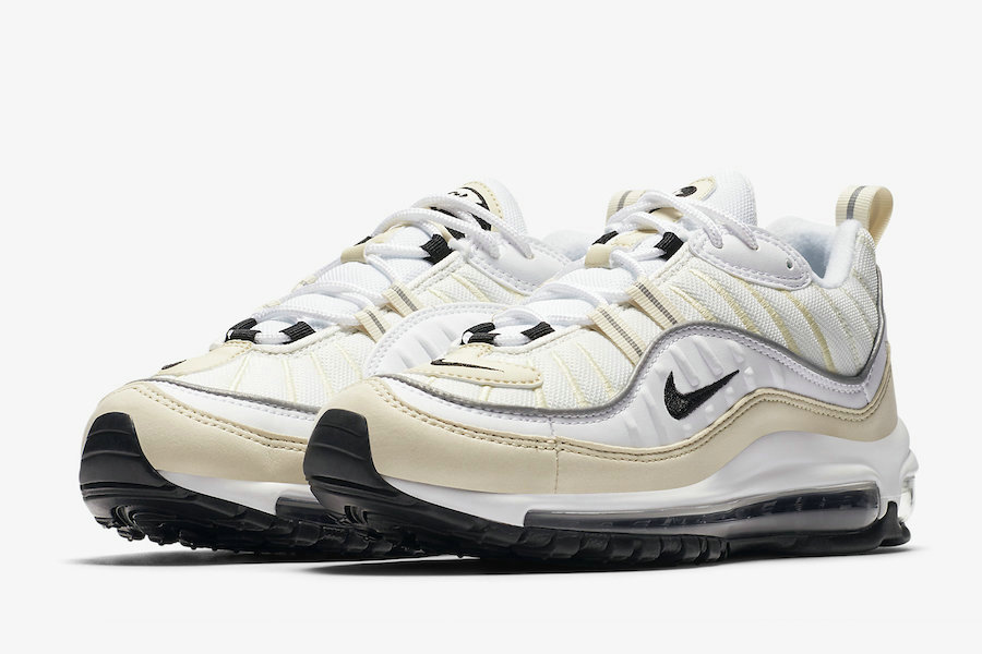 ed31a9d389 Wholesale Nike Air Max 98 AH6799-102 Sail White Black-Metallic Silver-Sail