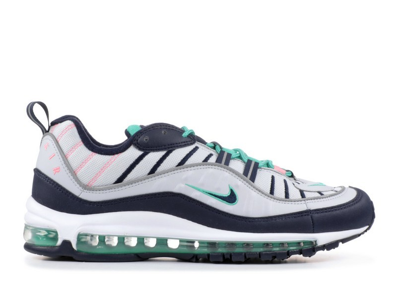 Cheap Wholesale Nike Air Max 98 South Beach 640744-005 Pure Platinum Obsidian Kinetic Green - www.wholesaleflyknit.com