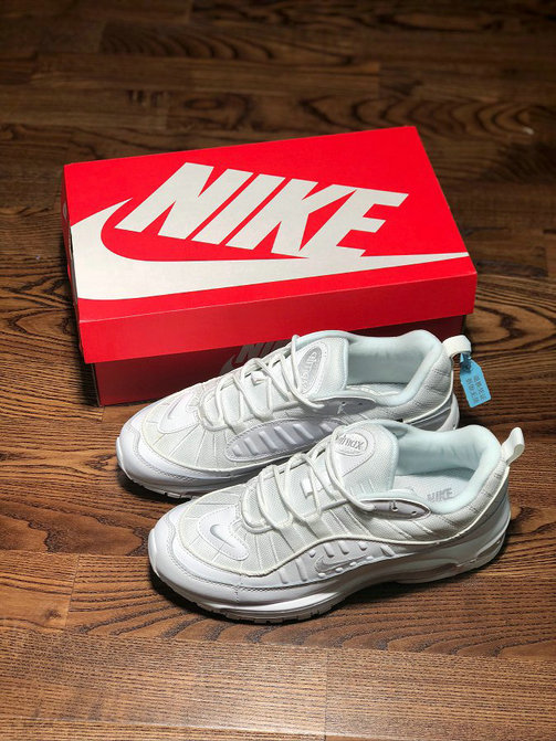 Wholesale Nike Air Max 98 Triple White Releases February 28th-www.wholesaleflyknit.com