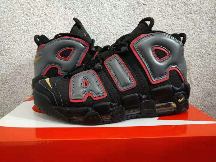 Cheap Wholesale Nike Air More Uptempo 917593-002 Black Hot Punch-Volt - www.wholesaleflyknit.com