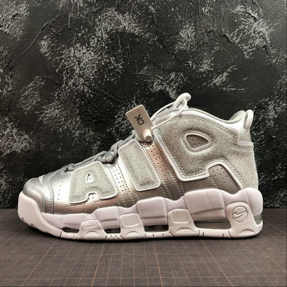 brand new 86057 5ec73 Wholesale Nike Air More Uptempo Mens Womens 917593-003 Metallic Silver  Argent Metallique-www