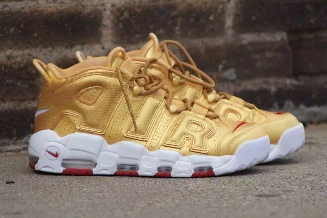 Wholesale Cheap Nike Air More Uptempo Metallic Gold 2017 For Sale - www.wholesaleflyknit.com