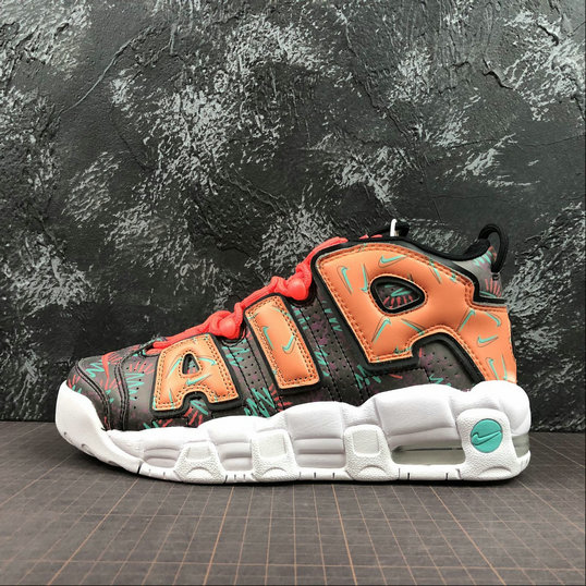 Wholesale Nike Air More Uptempo Womens AT3408-800 Total Orange Black Hyper Jade Noir-www.wholesaleflyknit.com