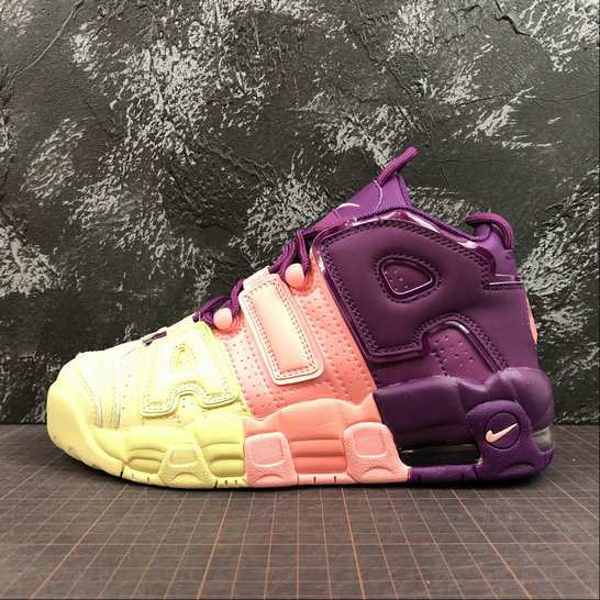 Wholesale Nike Air More Uptempo Womens AV8237-800 Citron Tint Pink Tint Nuance Rose Pale-www.wholesaleflyknit.com