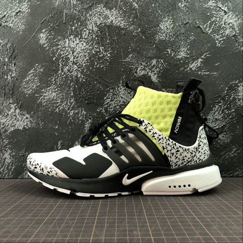 Cheap Wholesale Nike Air Presto Mid ACRONYM AH7832-600 Fluorescent Green White Black - www.wholesaleflyknit.com