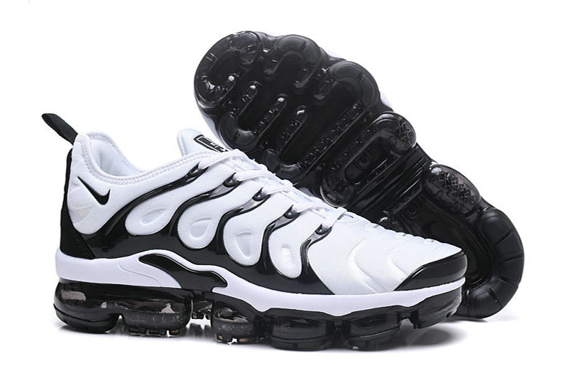 Wholesale Nike Air VaporMax Plus In White Black For Sale-www.wholesaleflyknit.com