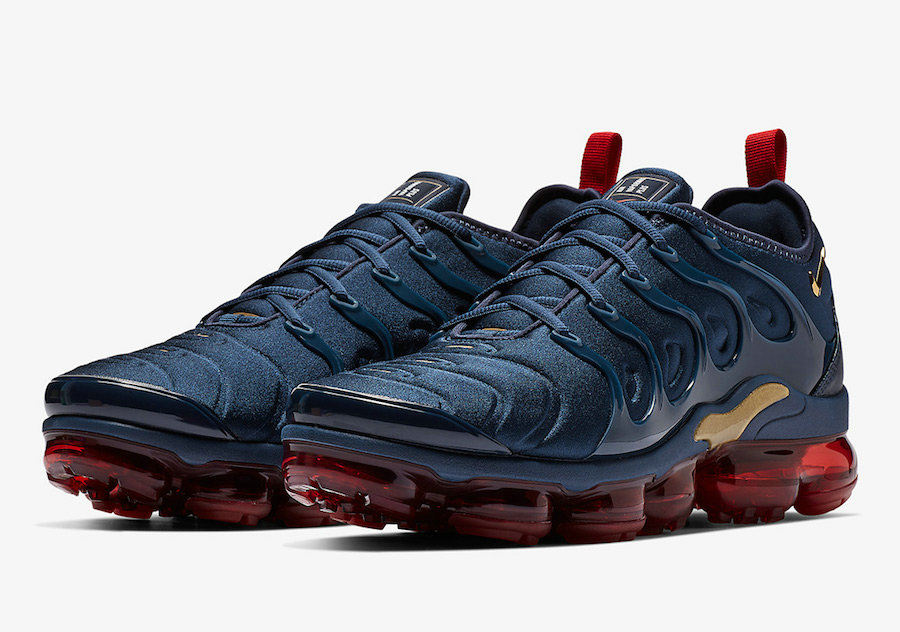 Wholesale Nike Air VaporMax Plus Midnight Navy Metallic Gold-Black-University Red 924453-405-www.wholesaleflyknit.com
