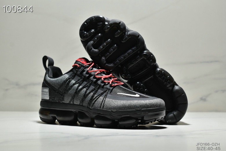 Wholesale Nike Air VaporMax Run Utility Black Reflective Silver Anthracite Habanero Red-www.wholesaleflyknit.com