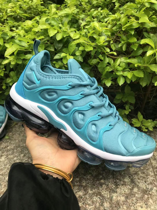 Wholesale Nike Air VaporMaxs Plus Aqua Blue White Black-www.wholesaleflyknit.com