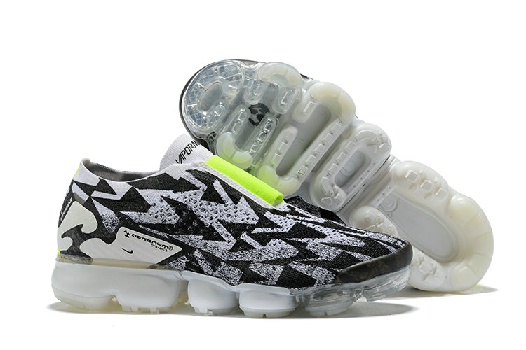 8f1e24ab3bc5a Wholesale Nike Air Vapormax FLYKNIT MOC 2 Acronym Womens Grey Black  Fluorescent Green On www.