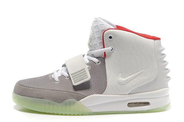 Wholesale Cheap Nike Air Yeezy 2 Wolf Grey Pure Platinum Glow in the Dark For Sale - www.wholesaleflyknit.com
