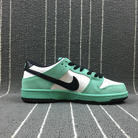 Wholesale Nike Dunk SB Low IW Womens 819674-301 Green Glow Black Summit White Lueur Blanc Sommet Noir-www.wholesaleflyknit.com