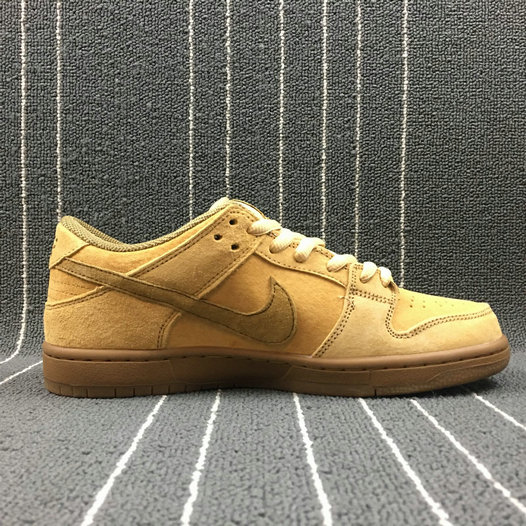Wholesale Nike Dunk SB Low TRD QS Womens 883232-700 Dune Twig Wheat Gum Med Brown Bleat Brindille-www.wholesaleflyknit.com