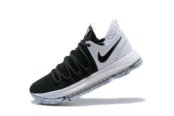 Cheap Wholesale Nike KD 10 Black White Mens Basketball Shoes 897815-008 - www.wholesaleflyknit.com