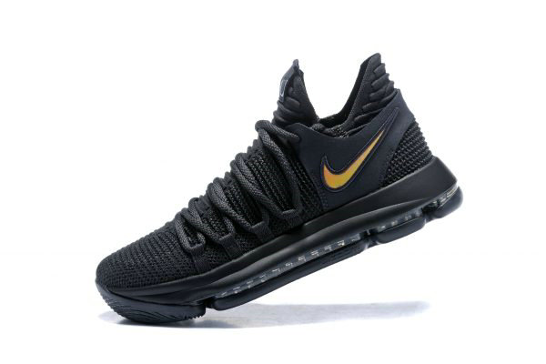 Cheap Wholesale Nike KD 10 PK80 Black Metallic Gold Mens Basketball Shoes - www.wholesaleflyknit.com