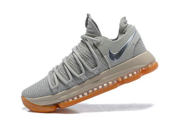 Cheap Wholesale Nike KD 10 Pale Grey Light Bone-Gum Mens Basketball Shoes 897817-001 - www.wholesaleflyknit.com