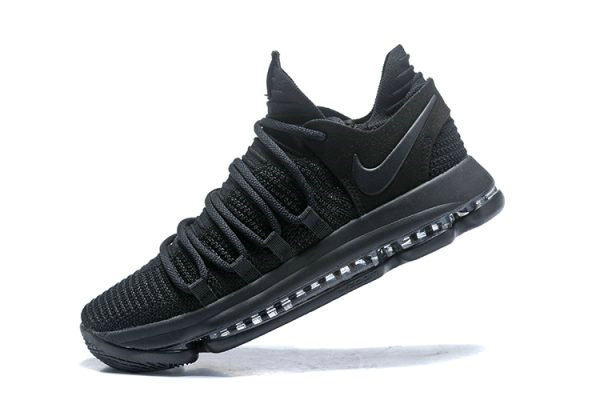 Cheap Wholesale Nike KD 10 Triple Black Mens Basketball Shoes 897816-004 - www.wholesaleflyknit.com
