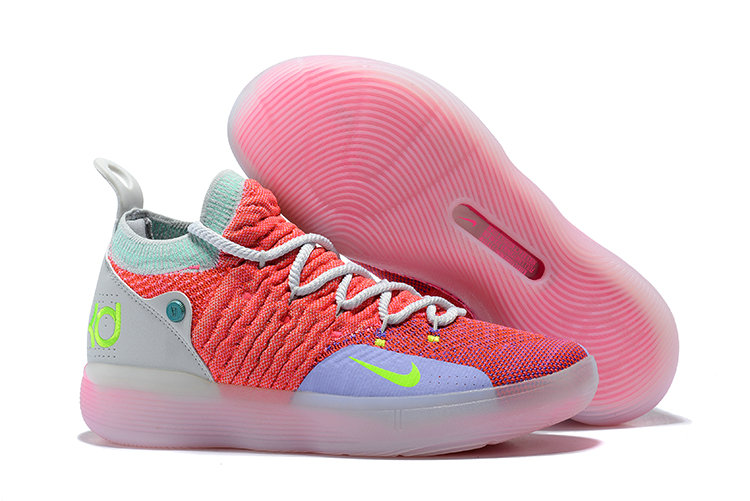 Cheap Wholesale Nike KD 11 EYBL AO2604-600 Hot Punch Lime Blast-Pure Platinum - www.wholesaleflyknit.com