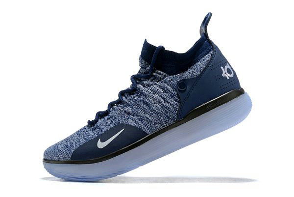 Cheap Wholesale Nike KD 11 Navy Blue White Mens Basketball Shoes For Sale - www.wholesaleflyknit.com