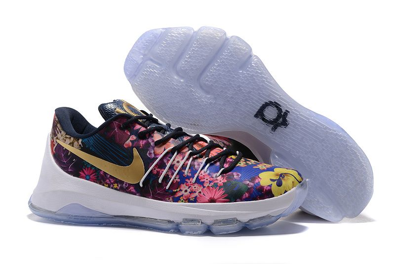 Wholesale Cheap Nike KD 8 EXT Floral Multicolor 2016 - www.wholesaleflyknit.com