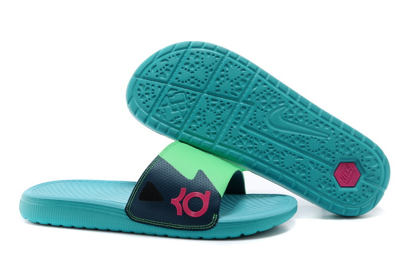 Wholesale Cheap Nike KD Slide Slippers May Green For Sale - www.wholesaleflyknit.com